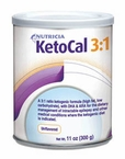 KetoCal 3:1 Formula Powder, Unflavored 11oz Can by Nutricia # 16672