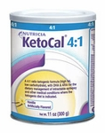 KetoCal 4:1 Formula Powder, Vanilla 11oz Can by Nutricia # 82286