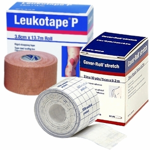 "Leukotape P 1.5""x15yds & Cover-roll Stretch 2""x10yds Combo Pack"