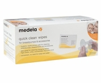Medela Quick Clean Wipes for Breastpumps & Accessories (Box of 40)