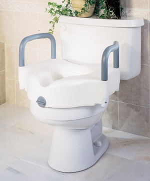 Medline Locking Elevated Toilet Seat Riser with Arms