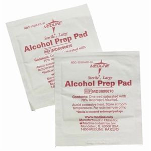 Medline Sterile Alcohol Prep Pads (Large) # MDS090670