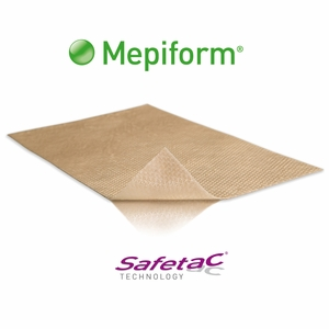 Mepiform Dressing Scar Silicone Sheet Pads – All Sizes, Molnlycke
