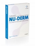 "Nu-Derm Alginate Wound Dressing 4"" x 4"" (Box of 10) Systagenix #AWD404"