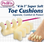 PediFix '4 in 1' Super-Soft Toe Cushions, 2 in a Pack