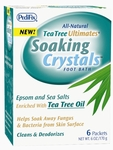 PediFix Tea Tree Ultimates Soaking Crystals, Six 1 oz paks