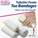 PediFix Tubular-Foam Toe Bandages, 3 in a Pack