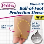 PediFix Visco-GEL Ball-of-Foot Protection Metatarsal Sleeve, 1 in a Pack