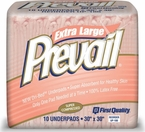 """Prevail Extra Large Super Absorbent Disposable Underpads 30""""x30"""" UP100 Case"""
