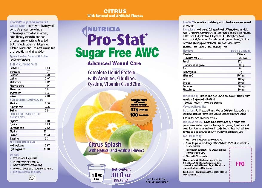 Prostat Awc Sugar Free Liquid Protein Supplement Pro Stat 30oz