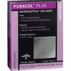 """Puracol Plus Collagen Dressing for Wounds 2"""" x 2"""" & 4"""" x 4"""", Medline"""