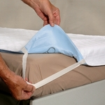 "Quik-Sorb Quilted Birdseye Cotton Incontinence Underpad for Hospital Beds, 36""x80"""