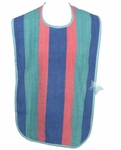 Salk Striped Super Heavyweight Terrycloth Adult Bib