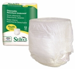 "Select Disposable Absorbent Underwear, Youth (15"" - 25""), Case of 96"
