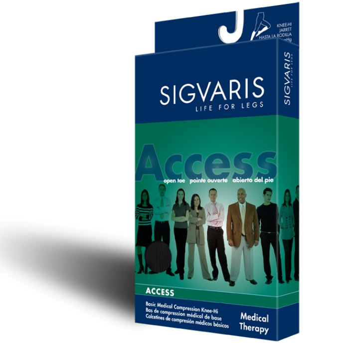 f41f4951652 Sigvaris Access Open Toe Thigh-High Compression Hose with Silicone ...