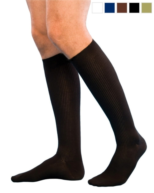 Sigvaris Graduated Compression Cotton Socks For Men Knee High