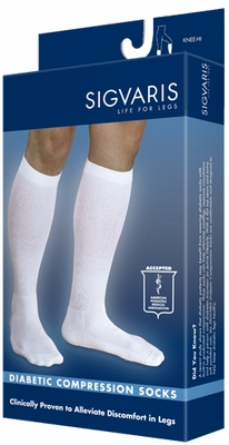 Sigvaris Diabetic Compression Socks for Men & Women, 18-25mmHg