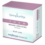 Simpurity Foam Wound Dressings, Non-Adhesive