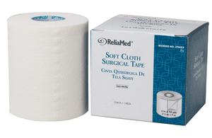"Soft Cloth Surgical Tape 1"", 2"", 3"" or 4"" x 10 yds, ReliaMed"