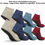 Sure-Grip Terrycloth Slippers with Rubber Sole