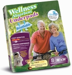 "Wellness Absorbent Underpads with LIQUISTAY (30"" x 36"")"
