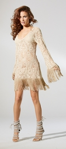 Cream Crochet Beach Dress