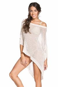 Glam Poncho in Ivory