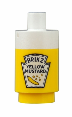 Mustard Bottle - white top