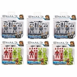 2015 Halo Mega Bloks <b>Halo Customizer Six Pack [3 NMPD & 3 Spartan - 12 Figures!]</b>