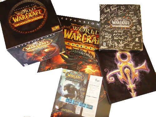 This collectible named Autographed Collector Cataclysm Bundle Developer Team Signed features officially licensed packaging by Blizzard World of Warcraft.