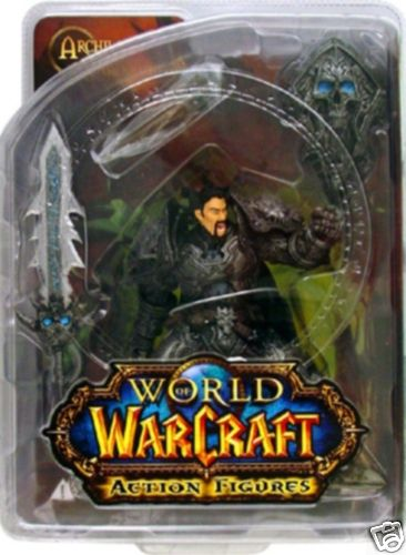 This action figure toy named Human Warrior- Archilon Shadowheart features officially licensed packaging by World of Warcraft DC Direct.
