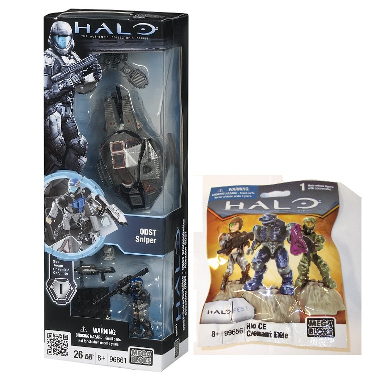 ODST Sniper 96861 and 2011 Halo Fest CE Covenant Elite 99656