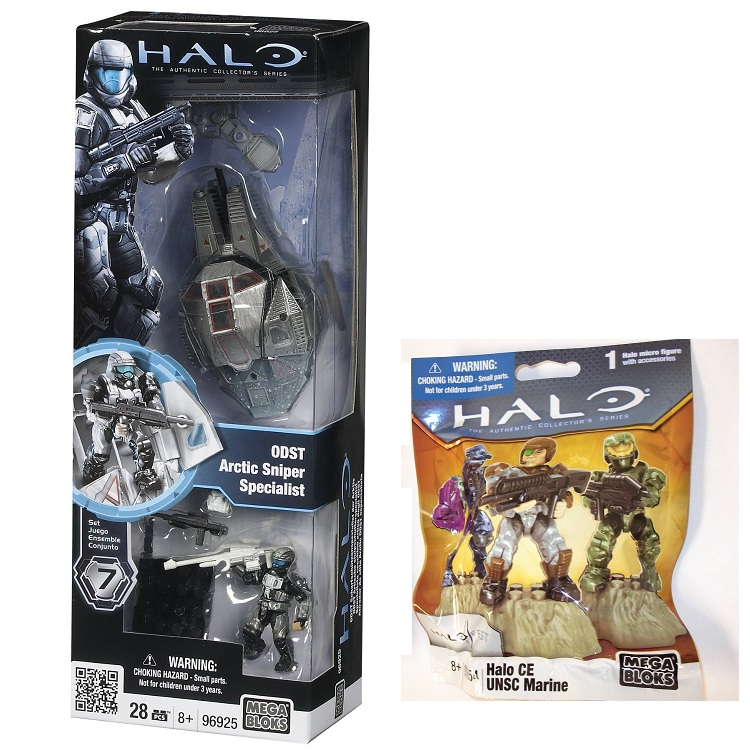 ODST Arctic Sniper Specialist 96925 & 2011 Halo Fest CE UNSC Marine 99654