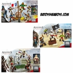 Mega Bloks Assassin's Creed Figure Pack Bundle [French Revolution, Pirate & Borgia]