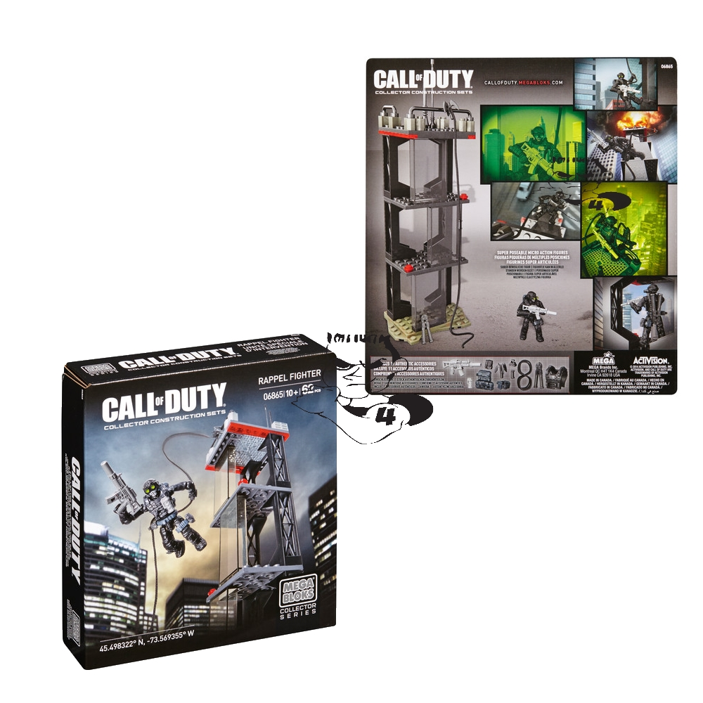 Ghost Rappel [Repel] Fighter by Mega Bloks Call of Duty