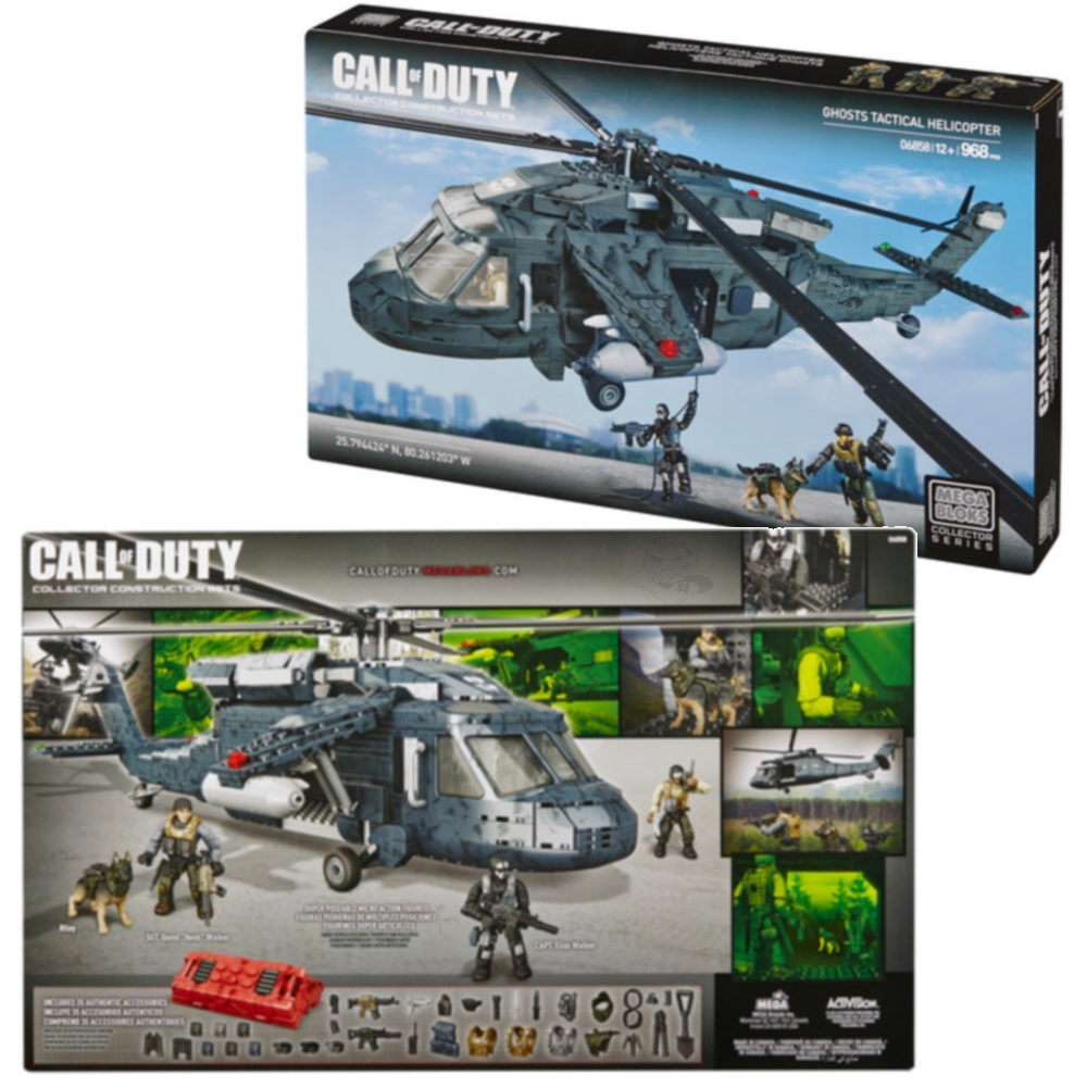 Ghosts Tactical Helicopter [Heavy Lift Copter] by Mega Bloks Call of Duty