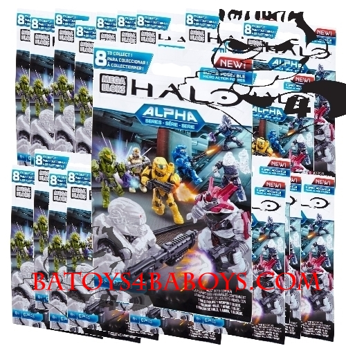 Alpha Series Factory Sealed Case of 24 Mystery Packs by Mega Bloks Halo