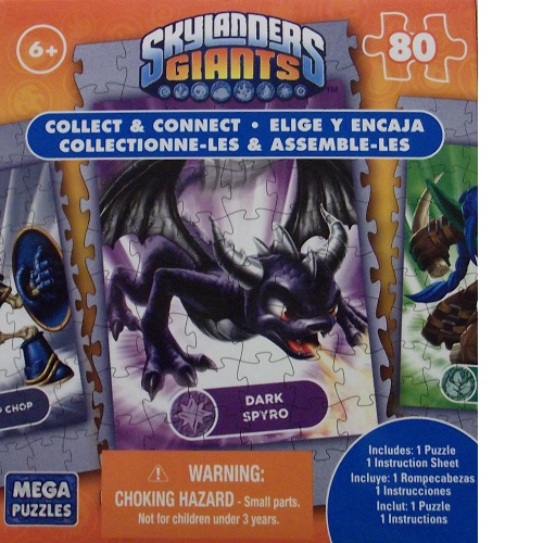 Dark Spyro Collect and Connect 80 Piece Puzzle