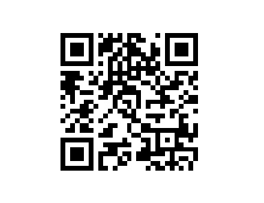 QR code for bitcoin donations at B.A. Toys.