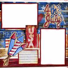 4th of July Fireworks - Quick Page Set - Left side