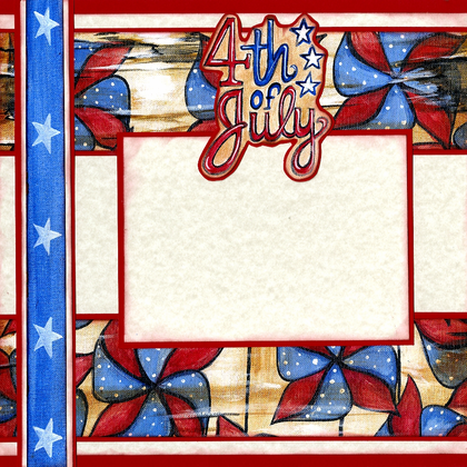 4th of July Fun - Quick Page Set - Left Side