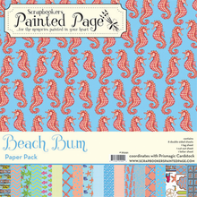 Beach Bum Collection Pack - 8 doubled sided prints plus 3 cut-out sheets