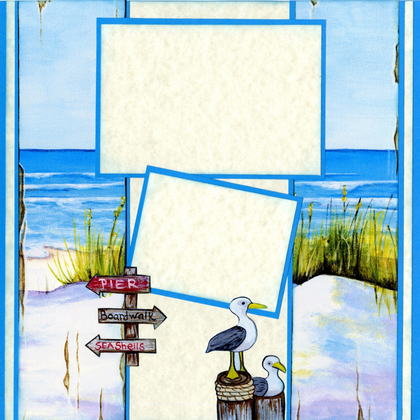 Beach Walk Quick Page Set - Right
