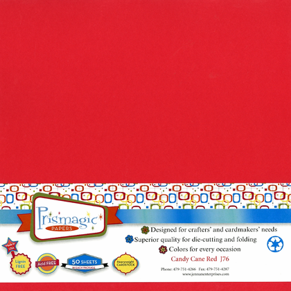 Candy Cane Red / 50 Sheet Pack