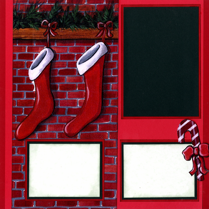Christmas Stockings Hung (Page Kit) - Left