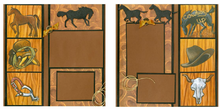 Cowboy Up Quick Pages Set