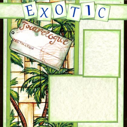 Exotic Places (Page Kit) - Left