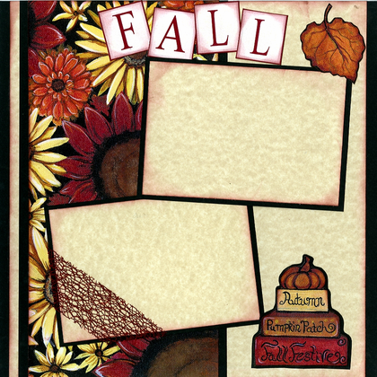 Fall Memories (Page Kit) Left & Right Pages