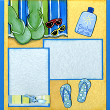 Flip Flops in Sand Page Kit -Left Side