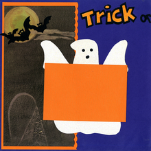 Ghostly Trick or Treat  - Quick Pages Set - Left & Right